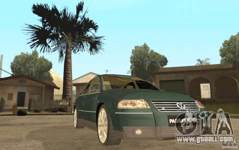 Volkswagen Passat B5+ W8 4Motion for GTA San Andreas back view