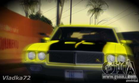 Buick GSX 1970 v1.0 for GTA San Andreas back left view