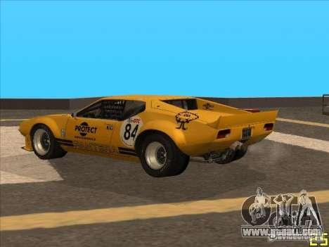 1972 DeTomaso Pantera for GTA San Andreas left view