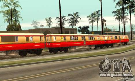 Liberty City Train DB for GTA San Andreas left view