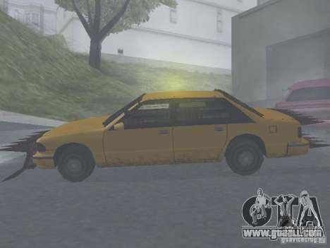 Zombie Taxi for GTA San Andreas back left view