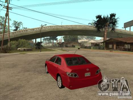 Toyota Corolla 2008 for GTA San Andreas back left view