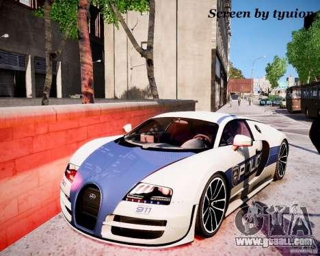 Bugatti Veryon SS COP for GTA 4 right view