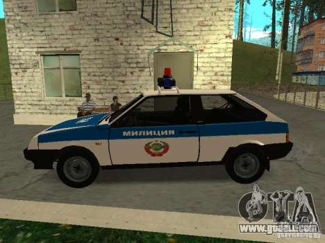 VAZ 2108 Police for GTA San Andreas left view