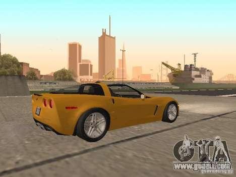 Chevrolet Corvette Z06 for GTA San Andreas right view