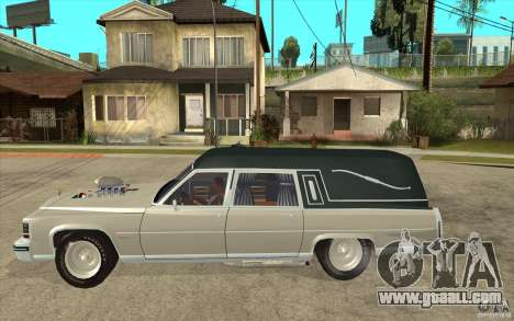 Cadillac Fleetwood 1985 Hearse Tuned for GTA San Andreas left view