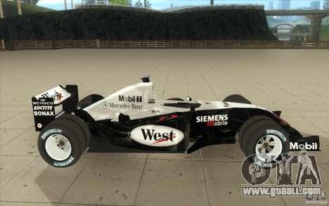 McLaren Mercedes MP 4-19 for GTA San Andreas inner view