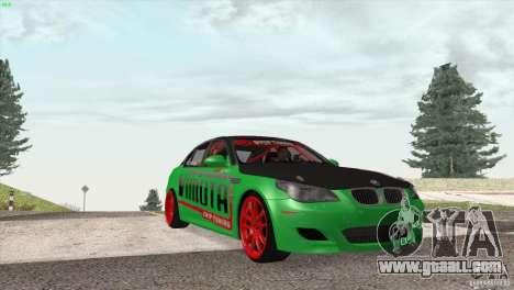 BMW M5 E60 Darius Balys for GTA San Andreas inner view