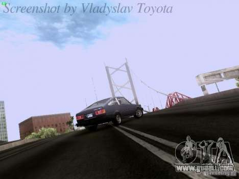 Toyota Corolla TE71 Coupe for GTA San Andreas inner view