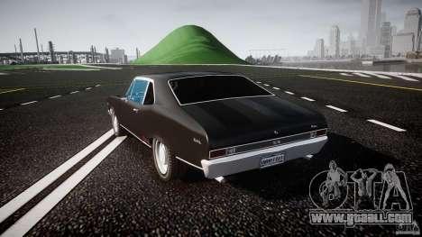 Chevrolet Nova 1969 for GTA 4 back left view