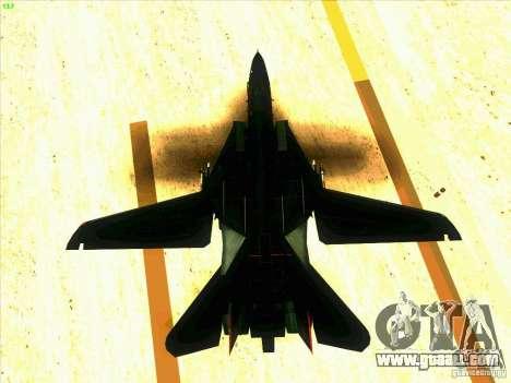 F-14 Tomcat Razgriz for GTA San Andreas bottom view