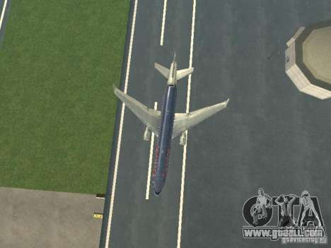 McDonell Douglas MD11 American Airlines for GTA San Andreas upper view