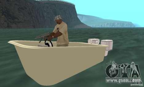 Bathtub Dinghy for GTA San Andreas left view