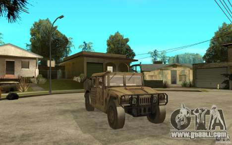 Hummer H1 War Edition for GTA San Andreas back view
