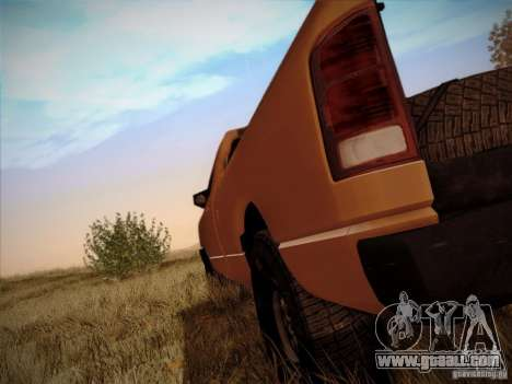 Dodge Ram 1500 4x4 for GTA San Andreas back view