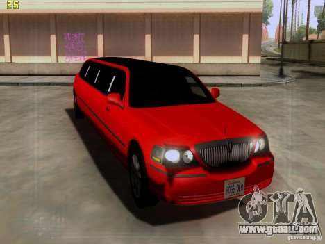Lincoln Towncar 2010 for GTA San Andreas left view