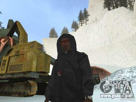 Sweatshirt with hood for GTA San Andreas second screenshot