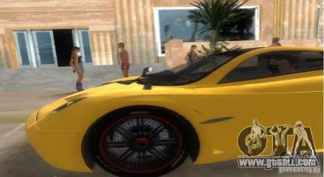 Pagani Huayra for GTA Vice City back left view