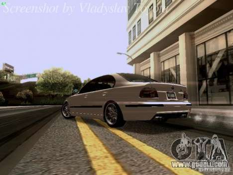 BMW E39 M5 2004 for GTA San Andreas back left view