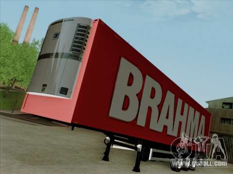 Trailer for Scania R620 Brahma for GTA San Andreas back left view
