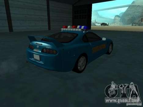 Toyota Supra California State Patrol for GTA San Andreas right view