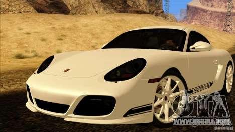 Porsche Cayman R 987 2011 V1.0 for GTA San Andreas interior
