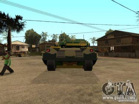 Camouflage for Rhino for GTA San Andreas back left view