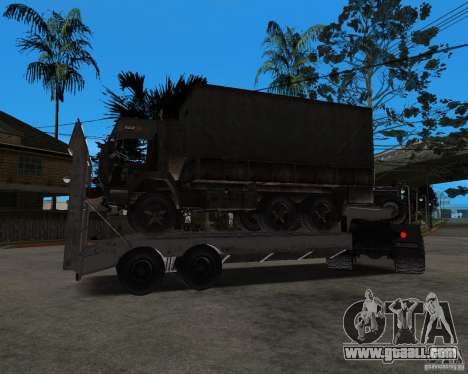 KrAZ 255 + trailer artict2 for GTA San Andreas inner view