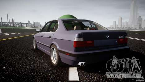 BMW 5 Series E34 540i 1994 v3.0 for GTA 4 back left view