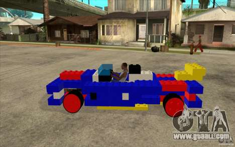 LEGO car for GTA San Andreas left view