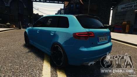 Audi RS3 Sportback V1.0 for GTA 4 inner view
