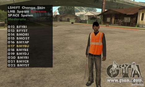 Skin Selector v2.1 for GTA San Andreas