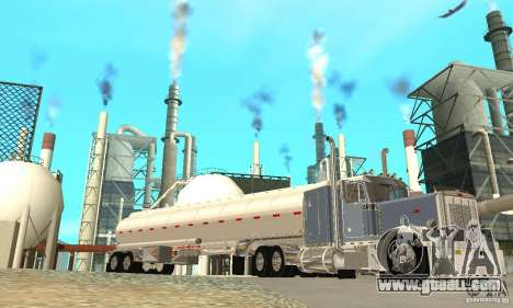Peterbilt 379 Custom And Tanker Trailer for GTA San Andreas bottom view