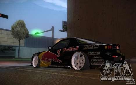 Mazda RX7 Madmikes Redbull for GTA San Andreas right view