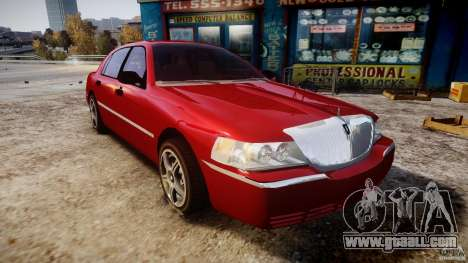 Lincoln Town Car 2003 for GTA 4 back view