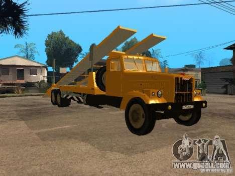 KrAZ 255 auto transporter for GTA San Andreas back left view