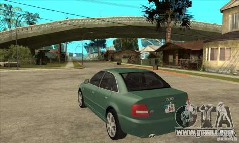 Audi S4 2000 for GTA San Andreas back left view
