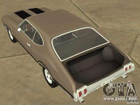 Oldsmobile 442 Cutlass 1970 for GTA San Andreas inner view