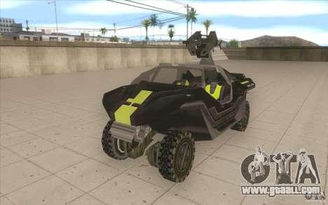 Halo Warthog for GTA San Andreas
