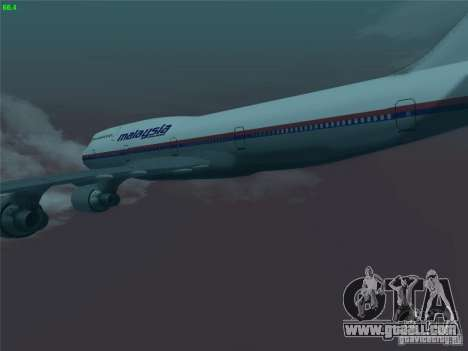 Boeing 747-400 Malaysia Airlines for GTA San Andreas side view
