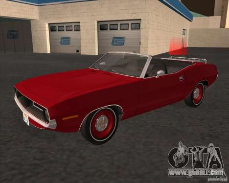 Plymouth Cuda Ragtop 1970 for GTA San Andreas back left view