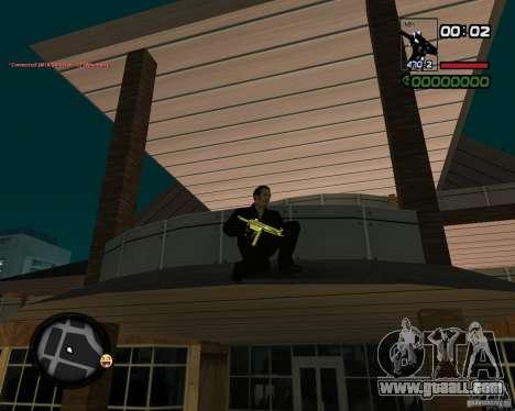MP5 Gold for GTA San Andreas second screenshot