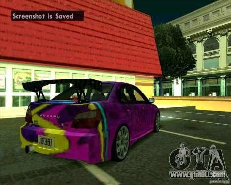 Subaru Impreza Tuned for GTA San Andreas right view