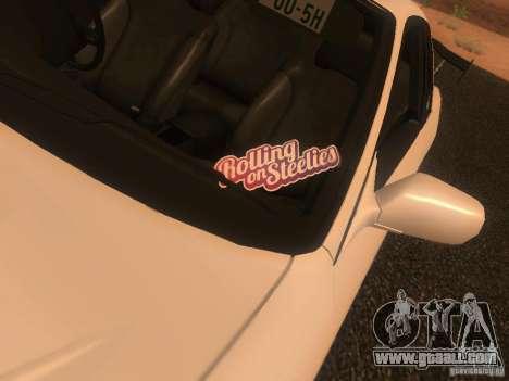 Nissan Skyline GTS R32 JDM for GTA San Andreas back view