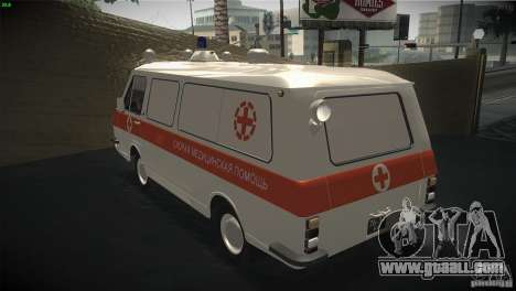 RAF 22031 ambulance for GTA San Andreas back left view
