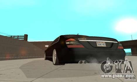 Brabus SV12 S Biturbo (w221) 2006 for GTA San Andreas back view