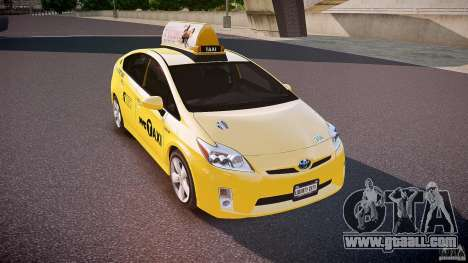 Toyota Prius NYC Taxi 2011 for GTA 4 side view