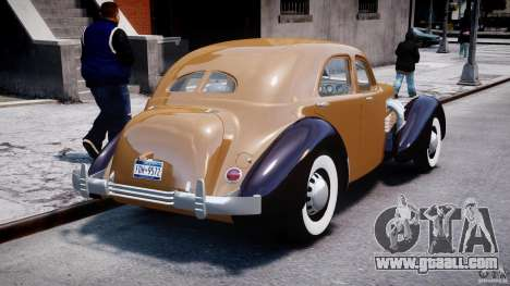 Cord 812 Charged Beverly Sedan 1937 for GTA 4 side view