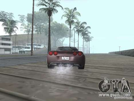 Chevrolet Corvette Grand Sport 2010 for GTA San Andreas back left view