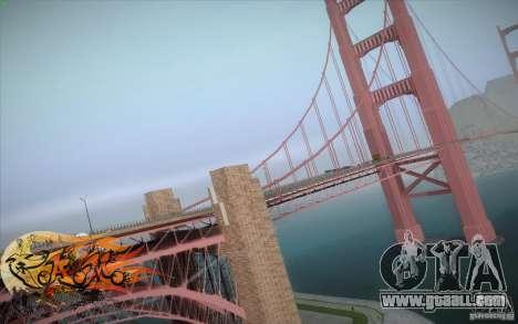 New Golden Gate bridge SF v1.0 for GTA San Andreas